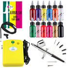 Ophir Airbrush Compressor Kit With Cleaning Tool 12x Acrylic Paint F Hobby Model