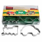 Boys Cooking Kids Cookie Cutter Boxed Set