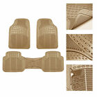 3pc Floor Mats For Auto Car Suv Van Heavy Duty 3 Colors W Free Gift