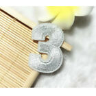 09 White Numbers Embroidered Patch Sewing Iron On Uniform Badge Shirt Applique