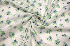 Blue Perforated 100 Cotton Lawn Fabric Floral Embroidered 54w Sheer Apparel