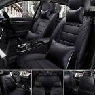 Us Pu Leather Car Seat Covers Universal 5-seats Suv Frontrear Cushions Full Set