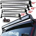 Tri Row 2232425052inch 4 18w Led Work Light Bar Offroad Truck Jeep Suv