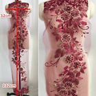 Luxury 3d Flowers Embroidery Wedding Evening Dress Lace Fabric
