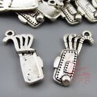 Golf Bag Charms 25mm Antiqued Silver Plated Sports Pendants - 81530pcs