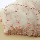 1 Yard Lace Fabric White Organza Small Rose Embroidery Wedding Bridal 51 Width