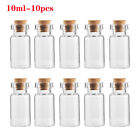 Vials Glass Bottle With Cork Stopper Tiny Small Transparent Message Bottles
