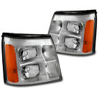 For 2003-2006 Cadillac Escalade Esv Ext Hid Model Replacement Headlight Chrome