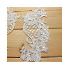 1 Pair Wedding Dress Lace Applique Flower Embroidery Lace Collar For Bridal Veil