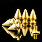 Solid Brass Screw Fix Spike Studs Cone Bullet Punk Rivet For Leather Craft Decor