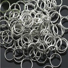 5 6 7 8 Mm Wholesale Gold Silver Plated Open Jump Double Split Rings Connector