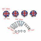 4pcs Car License Plate Frame Security Screw Bolt Caps Covers For Mercedes Benz