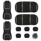 Universal Fits Suv Car Seat Cover Full Set Front Rear Seat Cushion Mat Protector