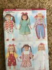 Doll Clothes Patterns -18inch Doll- Butterick Mccalls And Simplicity- U Pick