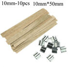 Square Stand Alloy Wax Candle Core Wooden Wick Candlestick Sustainer Tabs