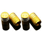 4pcs Car Wheel Tyre Valve Stems Air Dust Cover Screw Cap Rubber Seal For Toyota