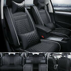 14pc Interior Leather Car Seat Cover Waterproof 5-seats Truck Full Set Protector
