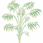 Bamboo Palm Stencil Reusable Wall Fabric Furniture Wood Painting Dcor Template