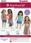 American Girl 18 Doll Sewing Patterns-simplicity- Factory Folded-uncut