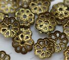 Wholesale Lots 500pcs Silver Gold Plated Metal Flower Bead Caps 6mm Findings