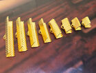 Ribbon Clip Clamps Silver Gold Bronze Plated Tips Cord Ends Beads 5 Mm To 20mm