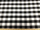 Discount Fabric 58 Inch Wide Drapery Black And White Check Dr23