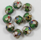 Wholsale 2050pcs Cloisonne Enamel Round Spacer Loose Bead Jewelry Finding 68mm