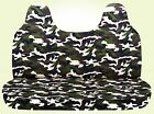 Cc Camouflage Bench Seat Cover With Molded Headrest 24 Colors Select Color Car