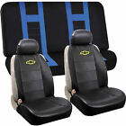 Synthetic Leather Sideless Seat Covers Bench Set Universal Car Truck For Chevy