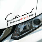1pc Sports Mind Car Sticker Auto Headlight Decal For Honda Fit Xrv Civic Crider