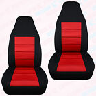 Made To Fit 1991-2001 Ford Explorer Front Set Car Seat Covers Two Tone Charcoal