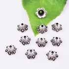 4 Color Bead Caps Brass Bronze Silver Spacer Flower End Bead Jewelry Finding 8mm
