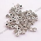 2050100pcs Tibetan Silver Tube Charm Spacer Beads Jewelry Findings Z3041