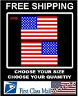 Right Left American Flag Usa Mirrored Vinyl Decals For Boat Truck Carsticker