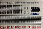 1947 1948 1949 1950 1951 1952 1953 Chevy Truck Decal Set