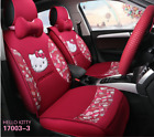 Universal Fashion Hello Kitty Car Seat Front Rear Cover Accessory Set 10 Pcs