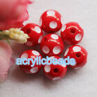 12-24mm Chunky Colors Polka Dot Round Acrylic Resin Gumball Beads Jewelry Diy