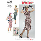 Simplicity Sewing Patterns Misses Retro Vintage 1930s 1940s Dresses Aprons Tops