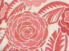 Discount Fabric Richloom Upholstery Drapery Linen Havana Coral Floral Ll30