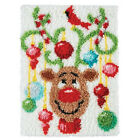 Gex Latch Hook Rug Kit Craft Christmas Gift Decoration Rug Christmas Series