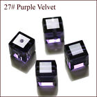 Wholesale Cube Crystal Glass Loose Beads Fot Jewelry Diy Making 6mm 4mm U Pick