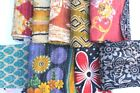 Vintage Kantha Scrap Fabric Material Remnants Sewing By Weight