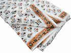 10 Yard Indian Hand Block Print Cotton Fabric Floral Pattern Dress Making Fabric