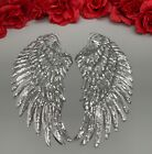 2pcset Wings Embroidered Iron On Fashion Sequin Large Patch Silver Or Gold 13