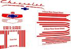1951 Chevy Fleetline Bel Air Coupe Convertible Sedan Delivery Rat Rod Decal Set