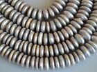 12-14mm Half Strand 2.0mm And 4.0mm Large Hole Rondelle Pearls Grey Color 177