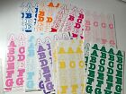 Scrapbooking Stickers Letters Colored Embellishments Mixed Lots Paper Crafting