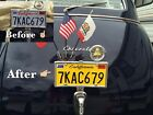 Diy Califonia Legacy License Plates Chevy Muscle Car