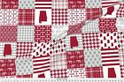 Alabama Cheater Quilt Bama Quilt Patchwork Fabric Printed By Spoonflower Bty