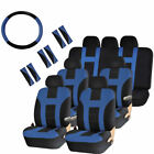 Racing Style Seat Covers Steering Wheel Cover Shoulder Pads For 7 Passenger Suv